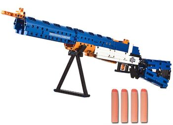 Конструктор Double E Cada Technics, винтовка М1, 583 детали, стреляет пульками - C81002W