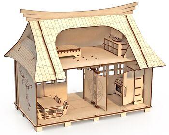 Конструктор-кукольный домик ХэппиДом Сакура с мебелью