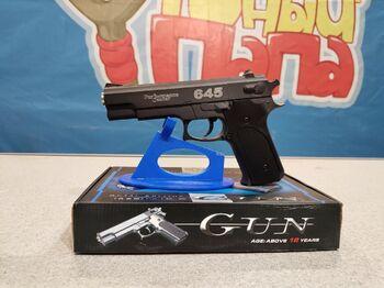 Детский пистолет металлический Smith , Wesson 645 K.6 калибр 6мм