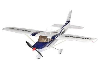 Радиоуправляемый самолет Top RC Cessna 182 400 class синяя 965мм PNP