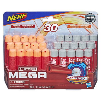Комплект стрел для бластеров Nerf серии N-Strike Mega комбо (30 шт.)