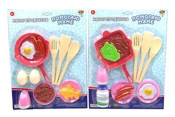 Набор посуды и продуктов Помогаю Маме, 2 вида