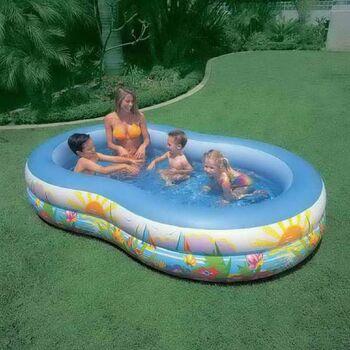 Бассейн надувной Seashore Pool (Лагуна) (от 3-х лет) 262х160х46 см