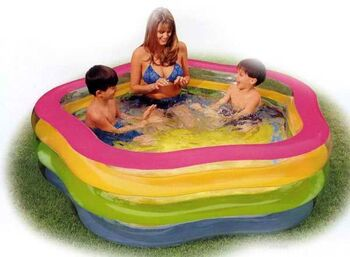 Бассейн надувной Summer Colors Pool (от 6 лет) 185х180х53см