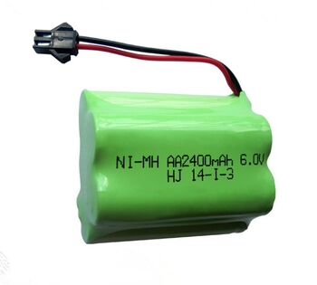 Аккумулятор Ni-Mh 6v 2400mah форма Offset разъем YP